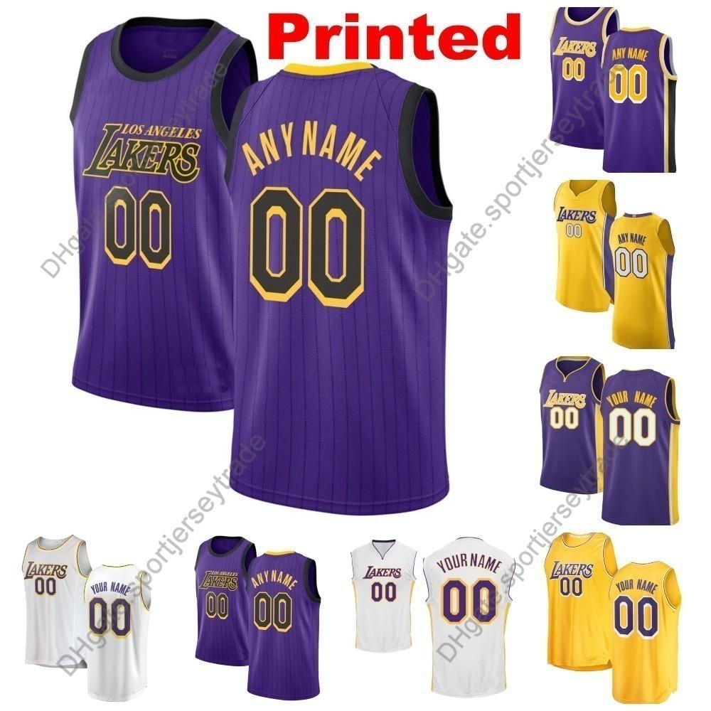 60d8b7ca982 2019 2019 Printed Men Los Angeles City Laker LeBron James 23 Josh Hart  Rondo McGee Kyle Kuzma Brandon Ingram Lonzo Ball Edition Basketball Jersey  From ...