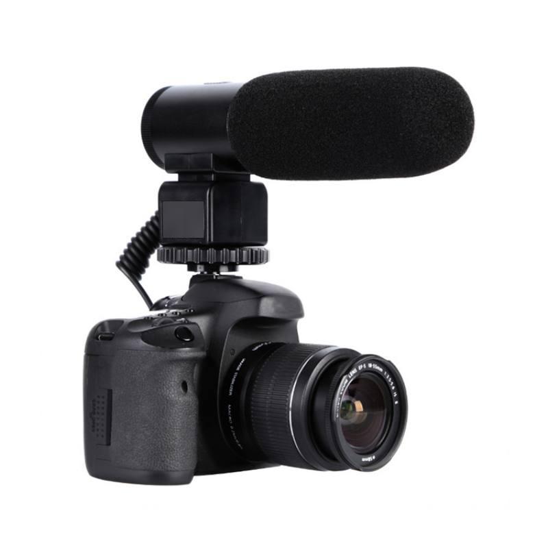 Câmera Microfone Estéreo Externo Mike Para Nikon D7500 D7200 D5600 D5600  D5300 D5300 MIC-03 Electret Microphon Profissional