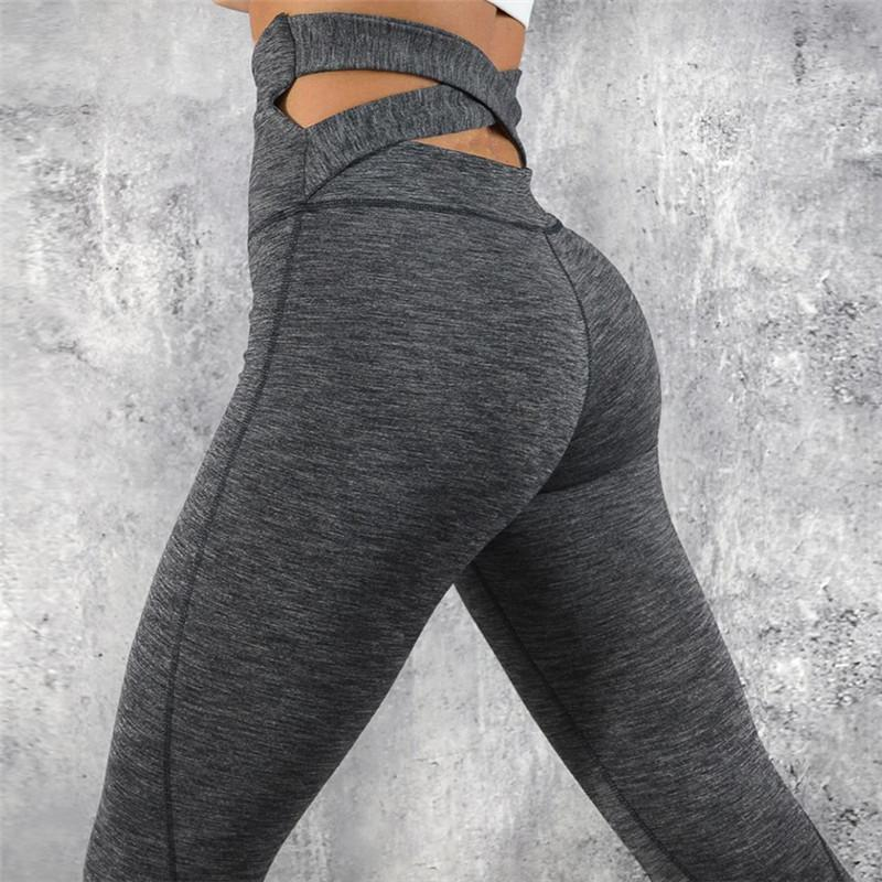 fccb12185c201f 2019 Sports Legging Women High Waist Yoga Pants Cross Belt Dance Tights  Compression Gym Leggings Skinny Fitness Sports Pants From Ahaheng, $36.28 |  DHgate.
