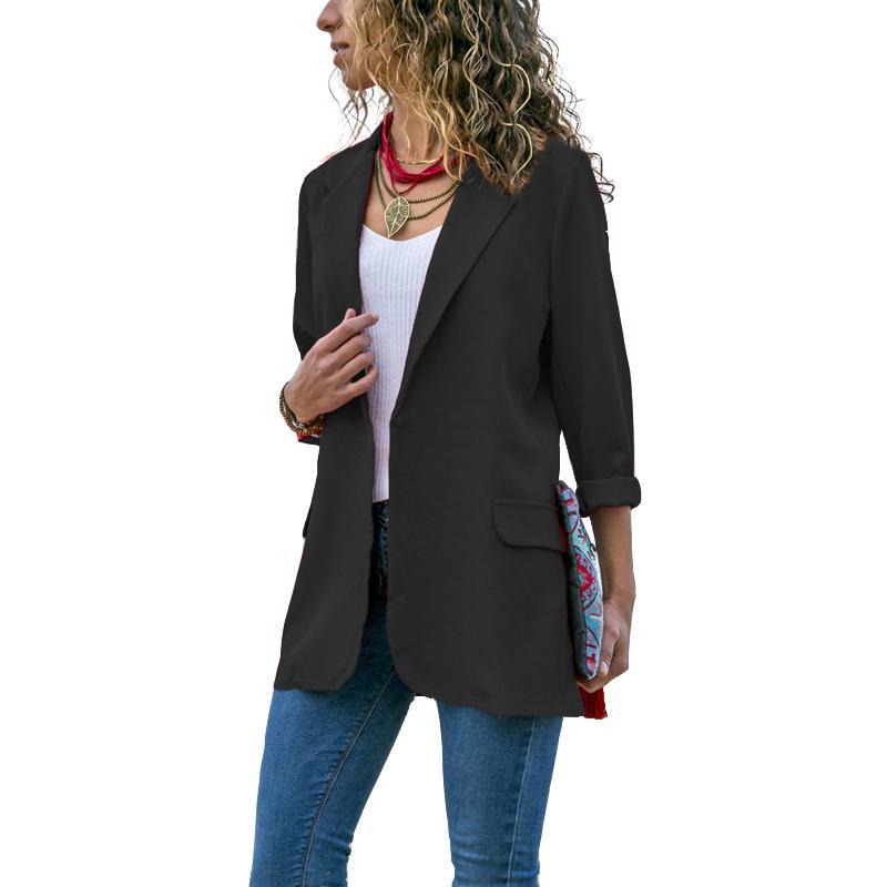07675f9ea6d Jacket Fashion None Button Work Office Lady Women Spring Fall Blazer Suit  Casual Slim Business Female Blazer Coat Fashion