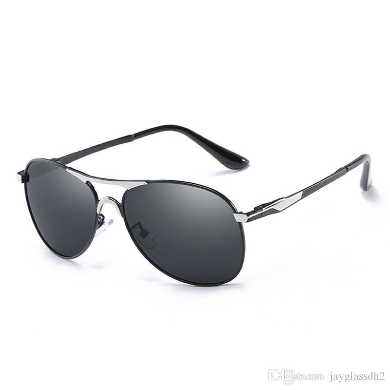 d002be267 High Quality Fashion Metal Pilot Polarized Sunglasses for Men Women Classic  Driving Polarized Sunglasses Male UV400 Polarized Sunglasses Pilot  Sunglasses ...