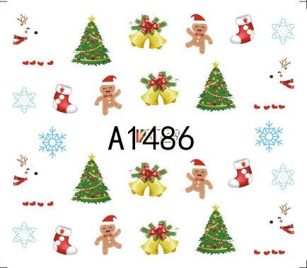 Merry Christmas In Polish.Noq 24pcs Christmas Nail Sticker Decals Art Decoration Merry Christmas Tree Hats Waterproof Decals Polish Foil Tips