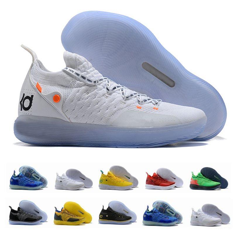 livraison gratuite 8ac57 f3fed 2019 chaussures nike KD 11 EP Blanc Orange Mousse rose designer Paranoid  Oreo ICE Chaussures De Basketball Original Kevin Durant XI KD11 Hommes ...