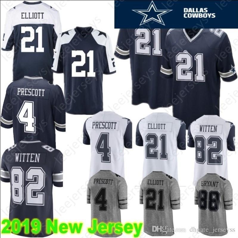 2019 Dallas 21 Ezekiel Elliott Cowboys Jerseys 55 Leighton Vander Esch 88  Dez Bryant 4 Dak Prescott 82 Jason Witte 19 Amari Cooper Stitched From ... d81865851