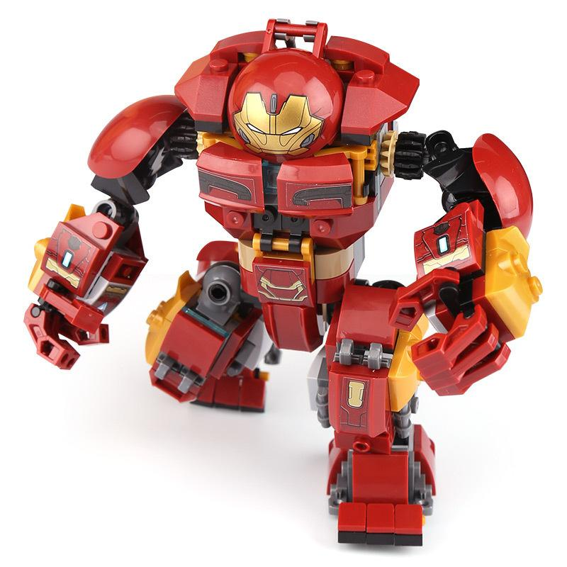 Hero Series Iron Man Anti-Hulk Armor Collage Block Giocattolo per bambini puzzle fai da te
