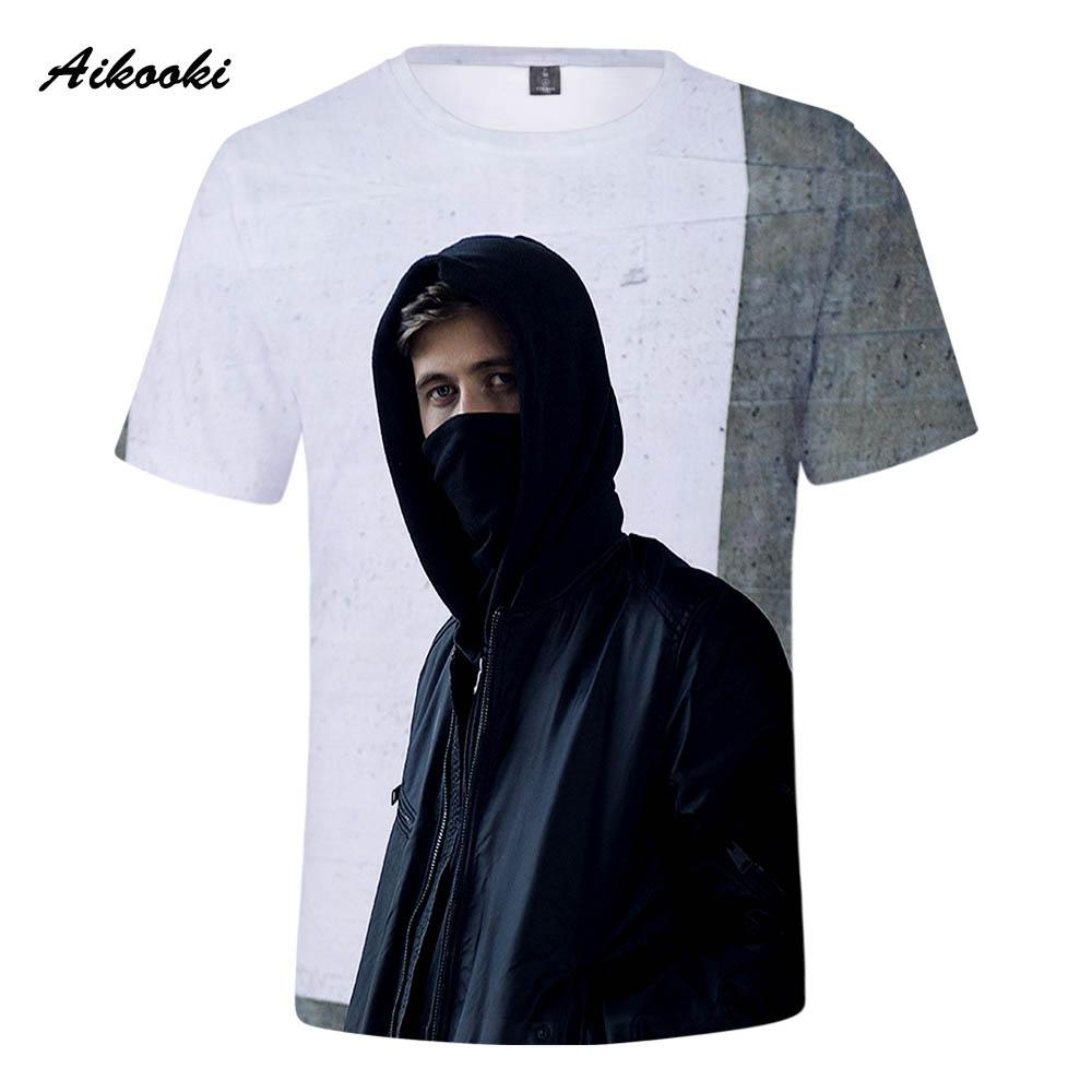 cfa3796c2 Aikooki Hot Alan Walker T Shirts Men/Women Fashion Tee Shirts Boy/Girl  Short Sleeve T Shirts Alan Walker White Design Print Awesome T Shirts  Designs Cool ...