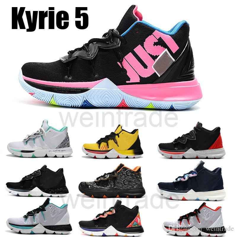 077885e6a411 2019 New Color Kyrie 5 Shoes Black Magic Zoom Turbo 5s Basketball ...