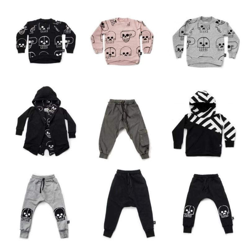 157b01b32 2019 Nununu 2019 New Boys Clothes Skull Robot Pattern T Shirts Pants Autumn  Winter Baby Girls Tops Tees Coats Kids Clothes Set From Superbest17, ...