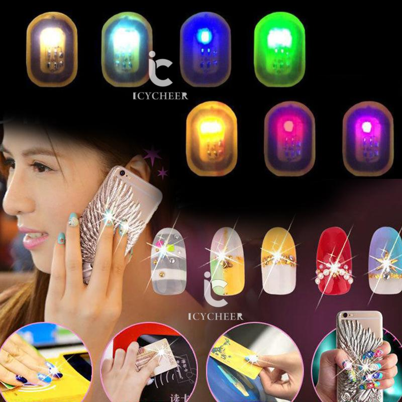 ICYCHEER NFC Makeup Nail Sticker Phone Mobile LED Flash Fingernail Decals  Nail Art Tips