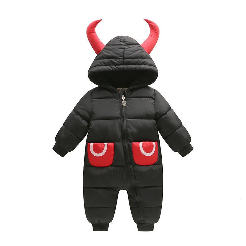 c7d36ffc3 2019 Good Quality Newborn Infant Boys Clothes Baby Rompers Winter Warm  Cartoon Hoodies Down Parkas Jumpsuit Toddle Boys Cotton Snow Suit From  Textgoods05, ...
