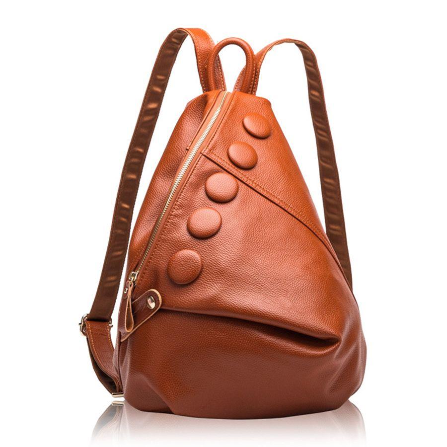 9edd4c74875d 2019 Genuine Leather Backpacks Women Designer Leather Bags Ladies Brand  Backpack Woman High Capacity Bolsa Feminina New