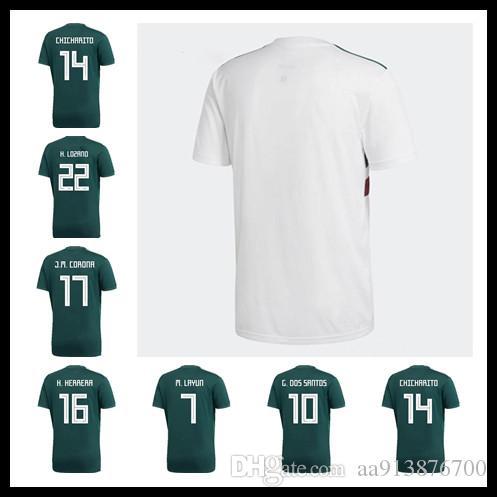 88892c98a 2019 2018 World Cup Mexico CHICHARITO Soccer Jerseys H.LOZANO A.GUARDADO Home  Away Shirts National Team R.JIMENEZ H.HERRERA LAYUN Football Jersey From ...