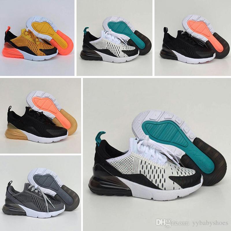 Nike air max 270 8 35 Herbst Kinder Sport grau lila rosa Casual Sneaker Jungen Mädchen Coconut Trainer Atmungsaktives Mesh Kinderschuhe