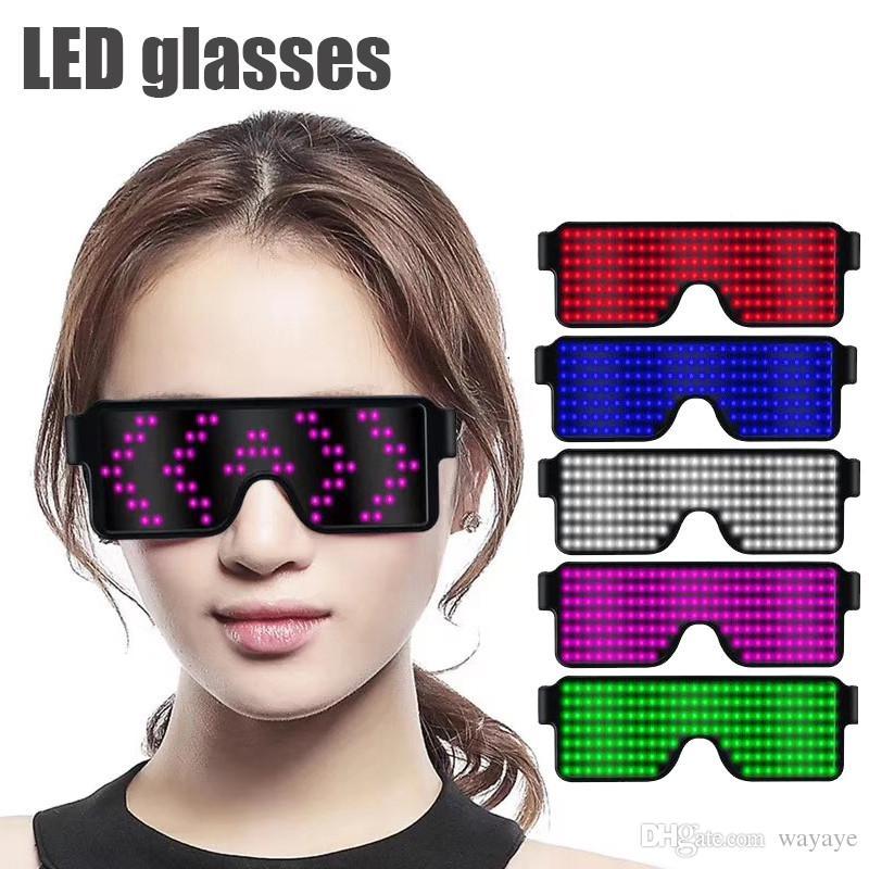 0fa700407c Compre 8 Modos Quick Flash LED Gafas De Fiesta Carga USB Gafas Luminosas  Concierto De Navidad Juguetes De Luz Decoración De La Fiesta A $13.78 Del  Wayaye ...