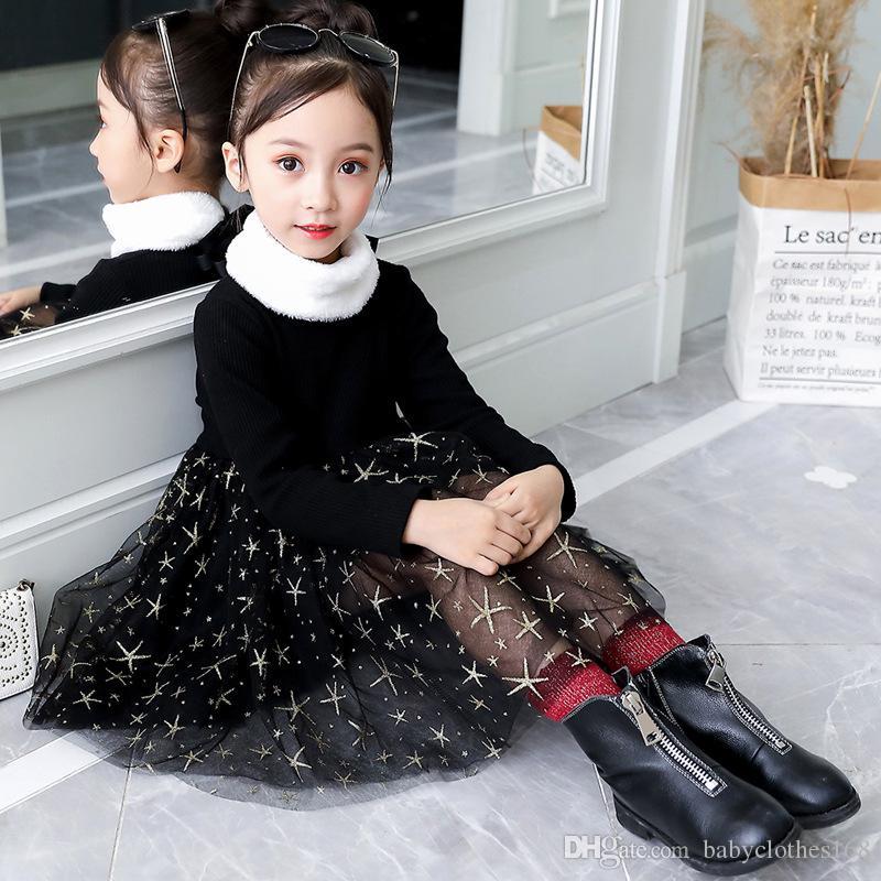 89c83c8ae 2019 Girls Designer Clothes Ball Gown Winter Red Velvet Dress For ...