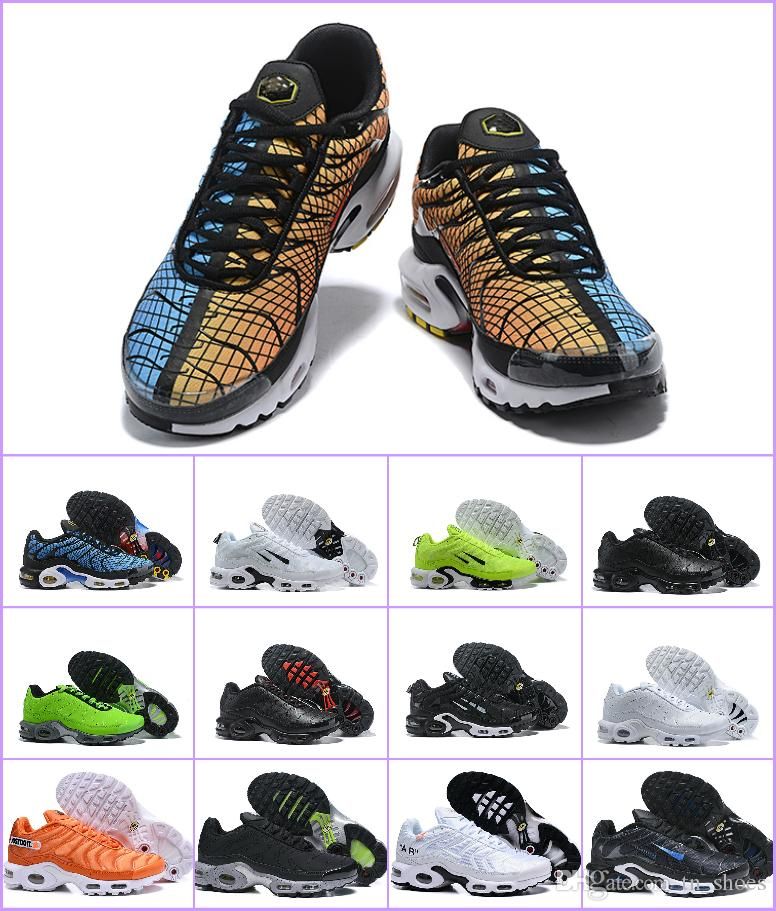 2019 NEW Tn Plus Greedy Mens Running Shoes OG Plus Tn Black White  Chaussures Tn Homme Prm Sports Rquin Athletic Outdoor 270 Sneaker Athletic  Shoes Shoes For ... 78c57e95b