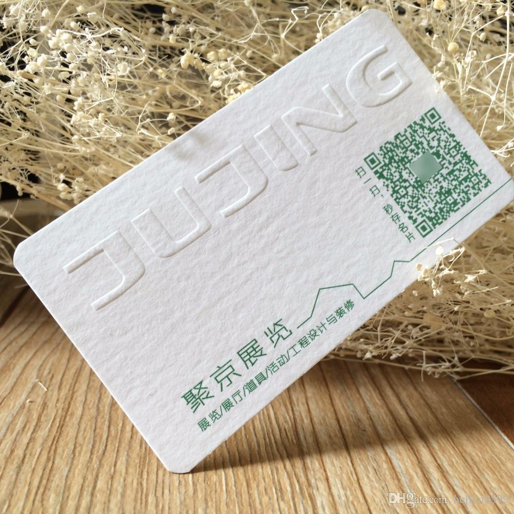 Acheter Carte De Visite En Papier Coton Gravant Relief Adaptee Aux Besoins Du Client Luxe 14071 Hellen8599