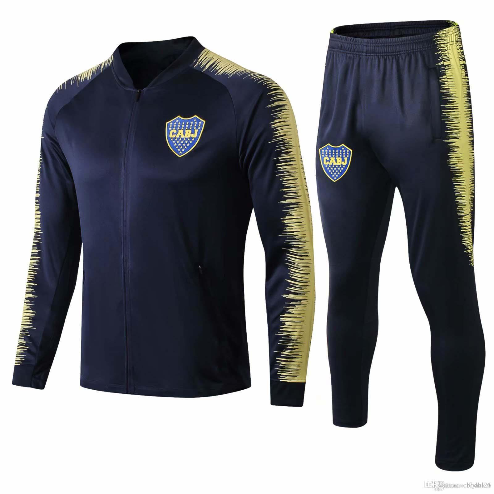 En gros plus récent Boca Juniors veste Benedetto à capuche 2018 2019 CABJ survêtements maillot de football maillot de football Naindez Pavon survêtement Mas maillot de football