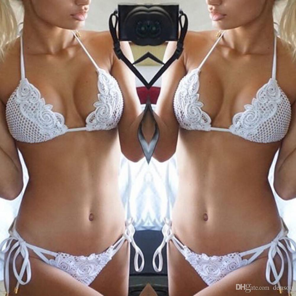 07e0360052 Wholesale-Sexy Lingerie Summer Women Halter Bikini Babydoll Beach ...