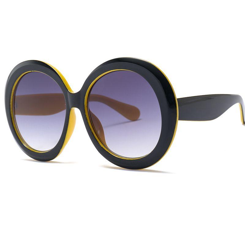 ac7c8b67ff 2019 New Women Oversized Round Sunglasses Fashion Brand Designer Sun  Glasses Women Vintage Shades Eyewear UV400 W85 Designer Sunglasses  Sunglasses For Women ...