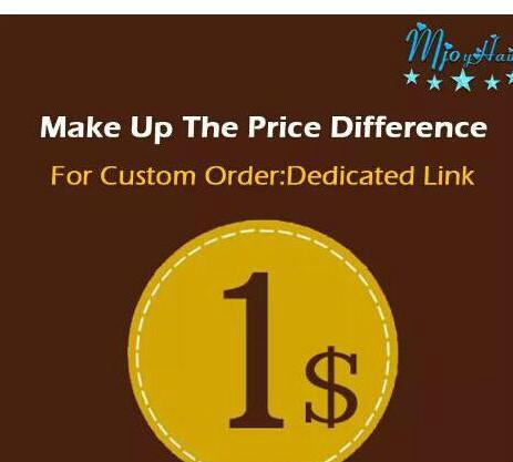 Make up the Diferença de preços shipping link dedicado Make up the difference Mjoyhair Um link dedicado