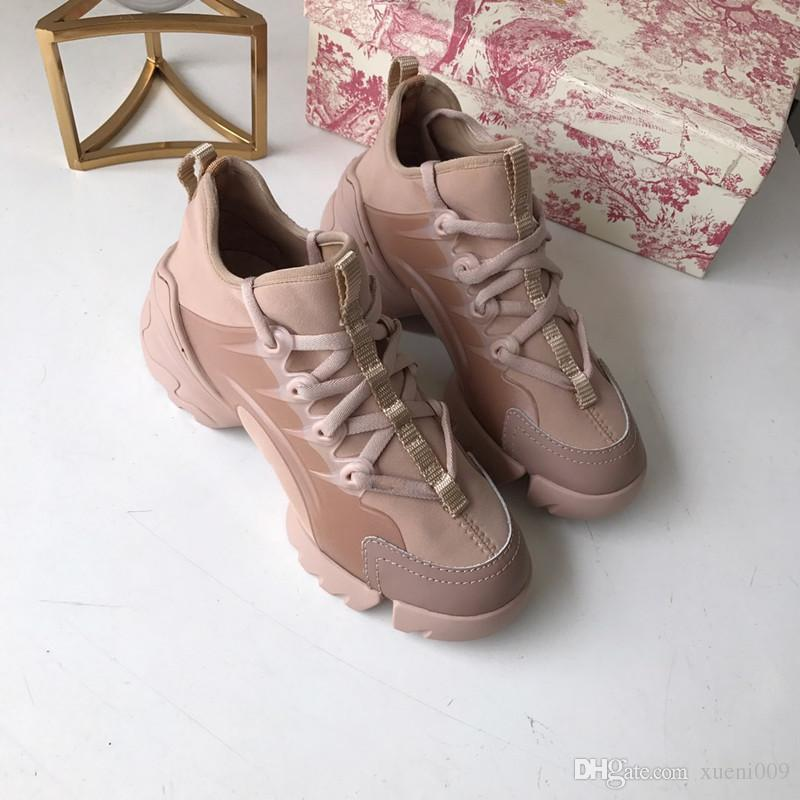 2019 New Color Brand Logo Sneakers Women Leather Flats Luxury Designer Runner Trainers sport Casual Shoes cx19032901