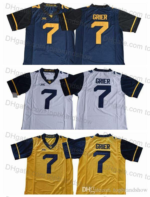 2019 2018 West Virginia Mountaineers 7 Will Grier Jersey Cheap Mountaineers  Will Grier College Football Jerseys Mens University Football Shirts From ... 912a88aaa