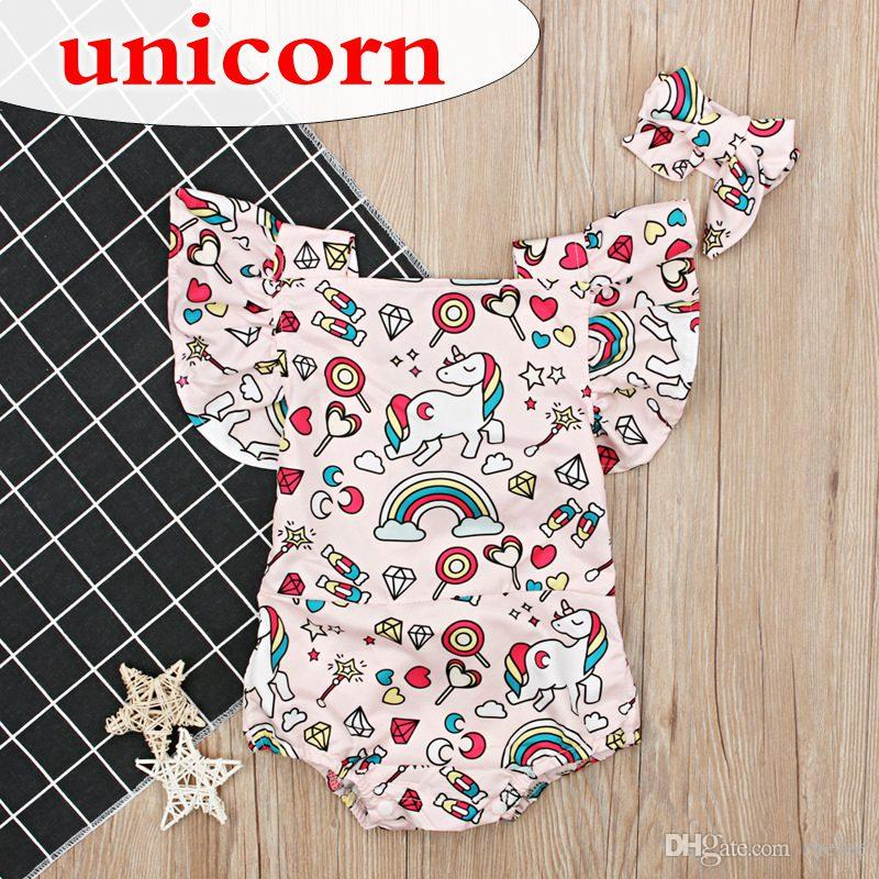 724200f1d54c 2019 Baby Designer INS Summer Toddler Kids Baby Girls Unicorn Romper  Toddler Infant Newborn Baby Girls Lace Unicorn Bodysuit Jumpsuit Outfits  From Melee