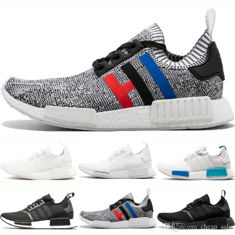 Adidas nmd R1 2019 R1 Grey Running Shoes para hombre Runner Primeknit Japan Triple negro Blanco rojo blanco azul azul oreo Hombres Mujeres Runner