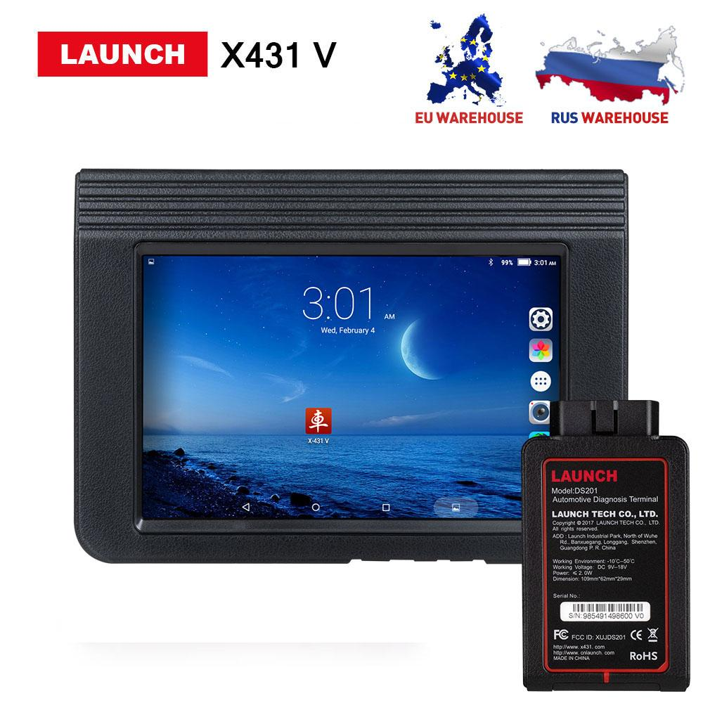 Launch X431 V 8inch Scanner Support Bluetooth/Wifi 2 years free Update  online X-431 V Full system Diagnostic Tool DHL free