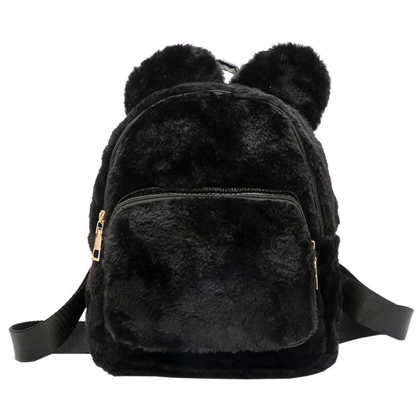 54cb8aac5d1 Ladies Girls Plush Panda Backpack Cute Travel Shoulder Plush Rucksack Bag  Women School Student Daypacks Teenagers Backpacks Designer Backpacks  College ...