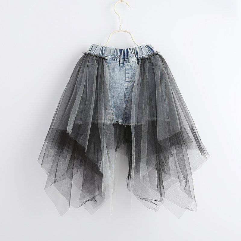 Summer new lace Girls Skirts princess denim A-Line Kids Skirt jeans Pencil Skirts kids designer clothes kids dress girls clothes A4442