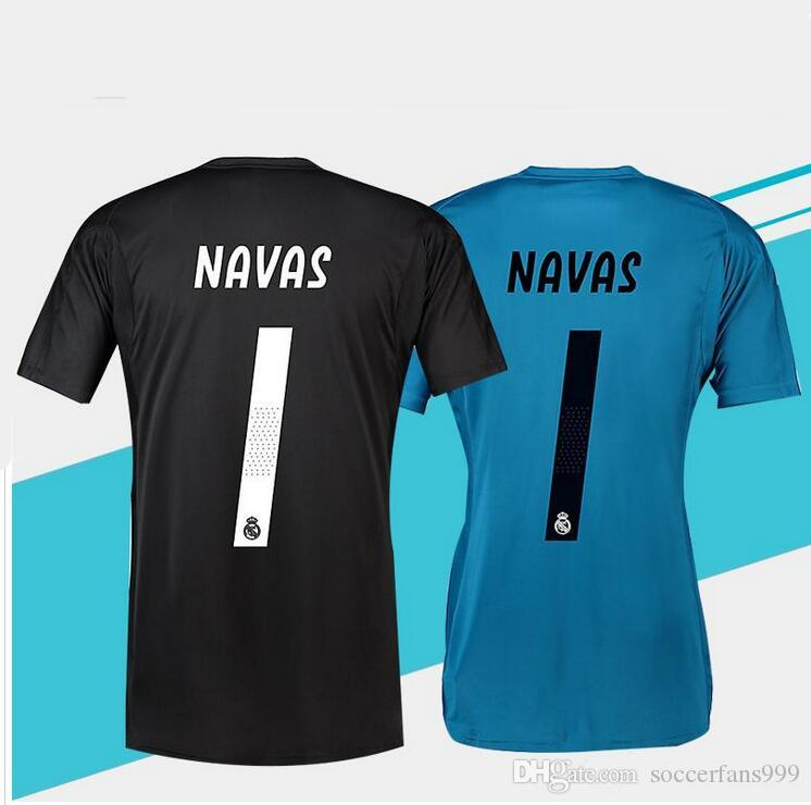 2e903c767a1 2019 18 19 Real Madrid Goalkeeper Soccer Jerseys Home Away 2018 2019 Real  Madrid Navas K.CASILLA Luca Goalkeeper Football Shirts Customize From ...
