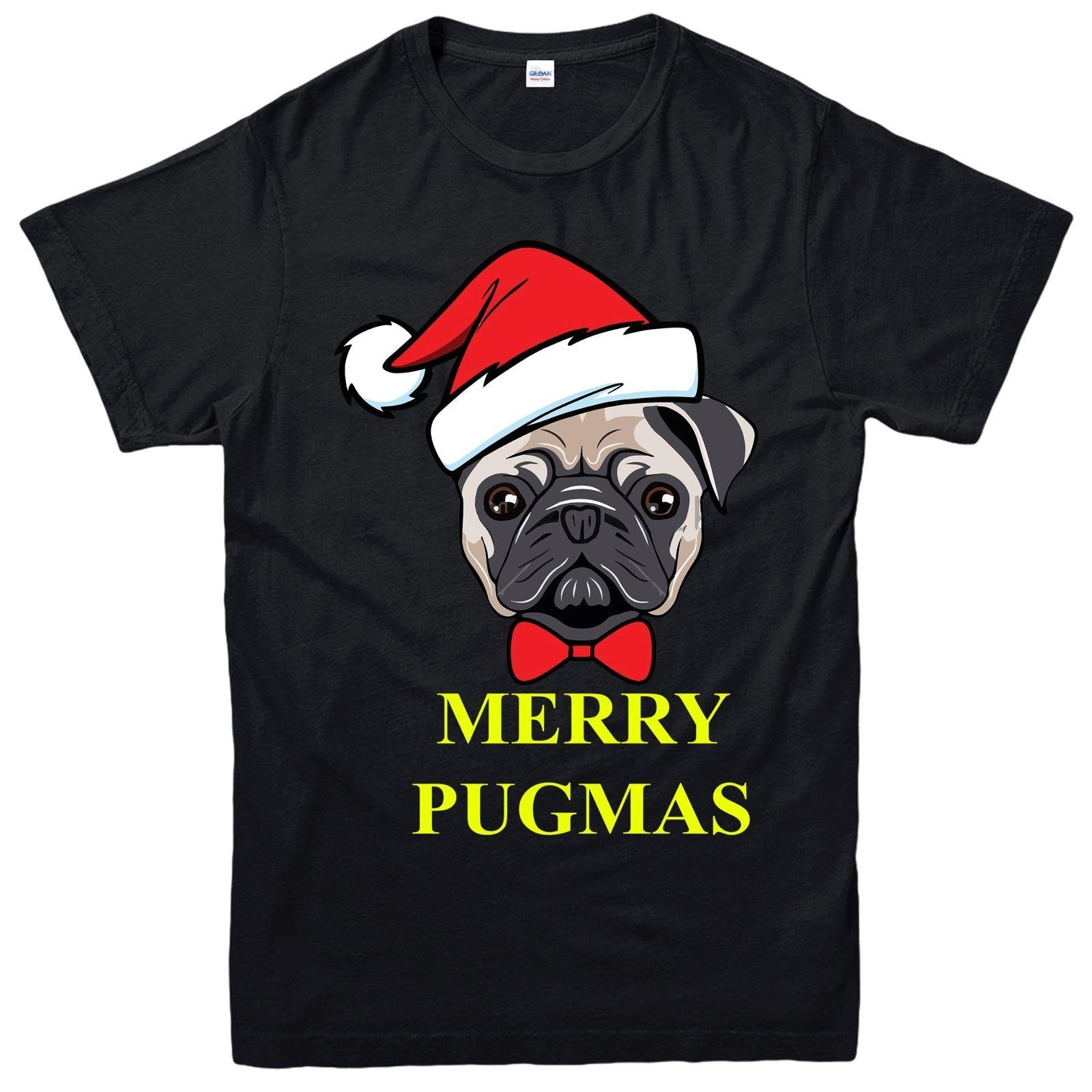 d9e6fac1 Pug Christmas T Shirt, Merry Pugmas Funny Xmas Festive Adult & Kids Tee Top  Funky T Shirts Online Shirts Mens From Kyngbee, $10.72| DHgate.Com