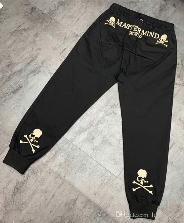 9923c254b 2019 New Fashion Hip hop Streetwear Mastermind Japan embroidery Skull  Casual Pants MMJ men women Joggers Pants Long trousers