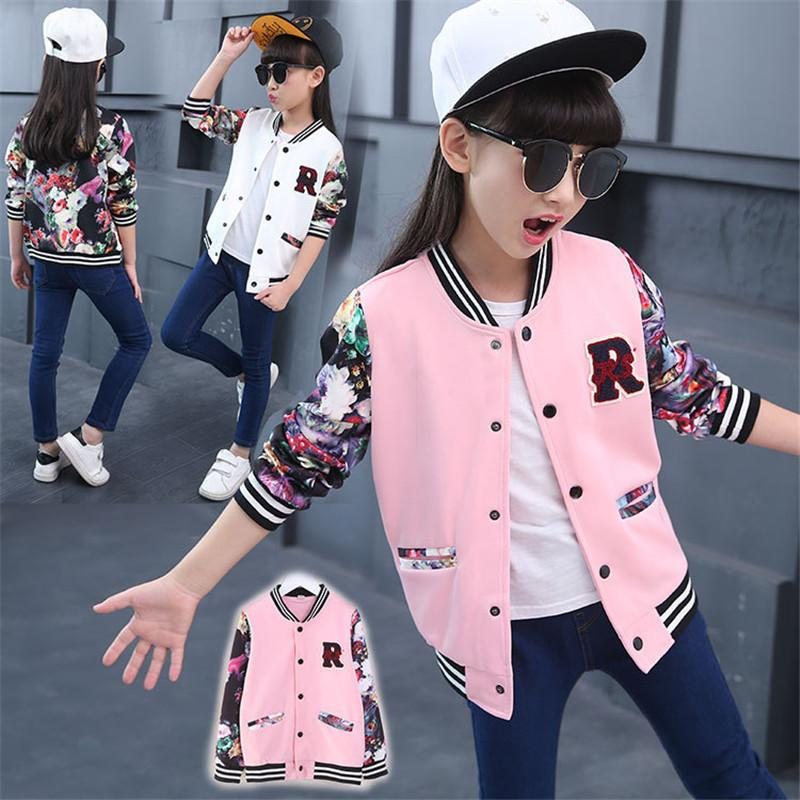 Spring Autumn Baby Jacket Casual Cardigan Girl Coat Children Baseball Clothing Fashion Casaco Kids Clothes Girls Outerwear 3-13T