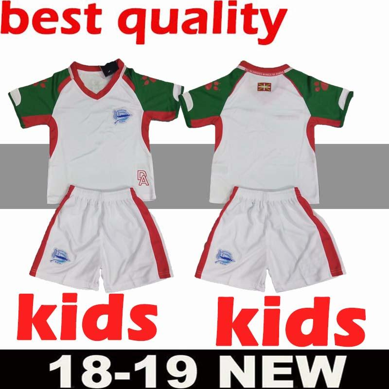 a81a75166 2018 2019 Kids Kit Deportivo Alavés Soccer Jerseys Home Away Alaves ...
