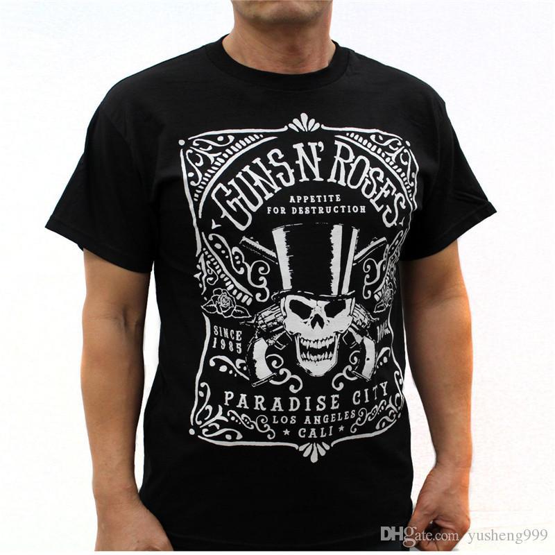 Compre Serigrafía Playeras Manga Corta Corta Hombre Gun N  Roses Camisetas  A  11.87 Del Yusheng999  c8a7d0062f3d1