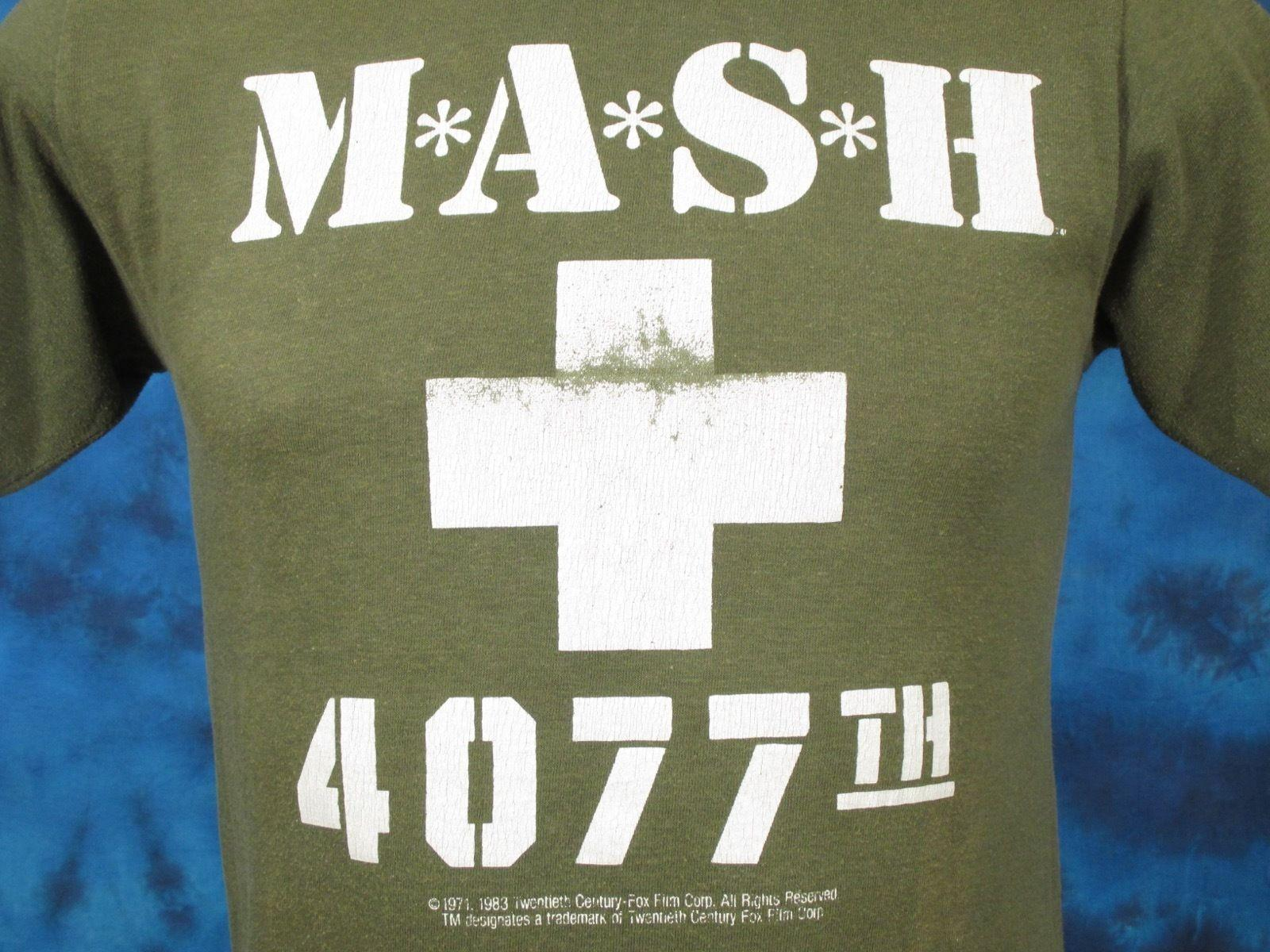0c3d6b42 Vintage 80s MASH 4077TH SERIES FINALE T Shirt XS Tv Show Fox 20th Army Soft  ThinFunny Unisex Casual Buy Cool T Shirts Funky Tee Shirts From Tshirtkidd,  ...