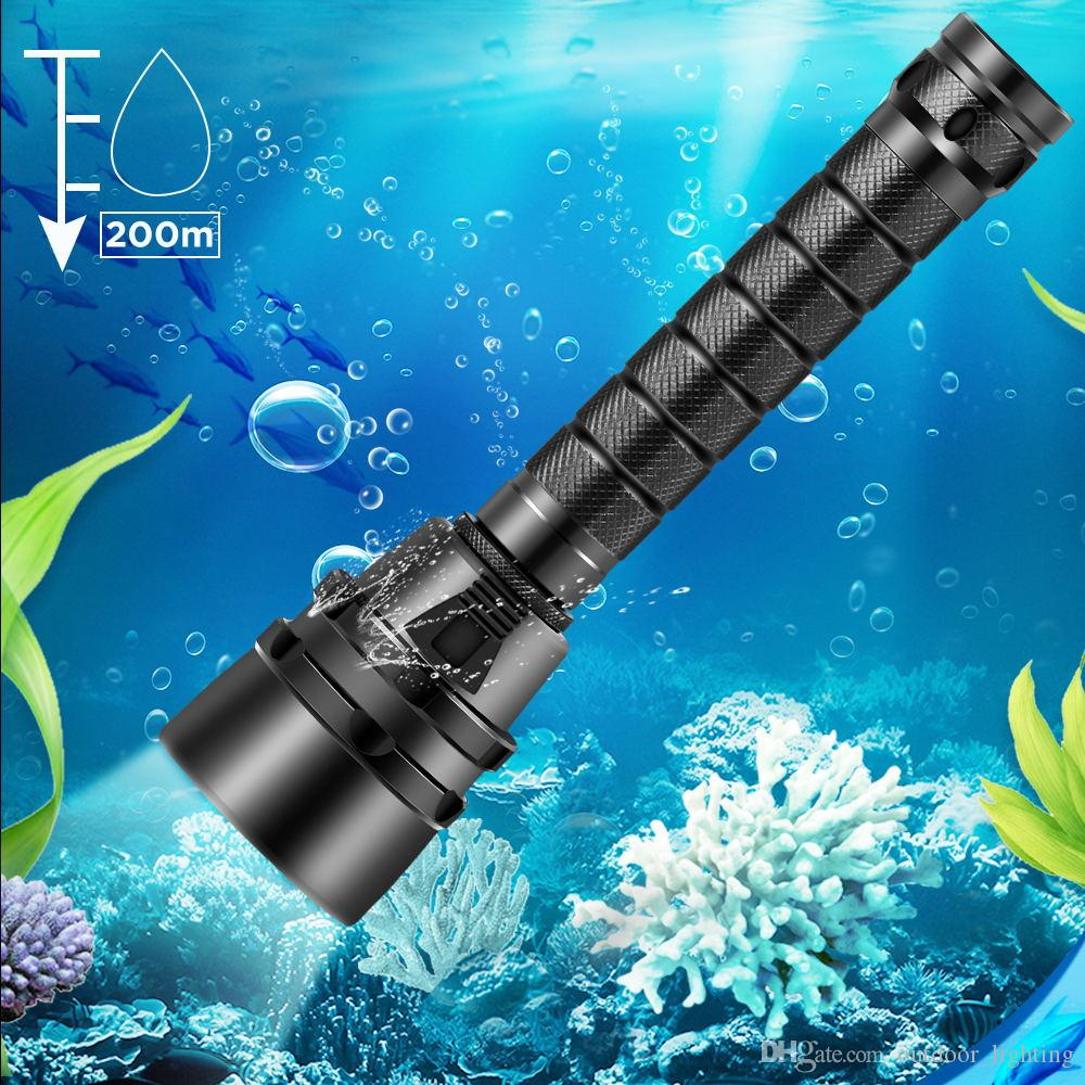 15000lumens Professional Diving Flashlight Torch 3xCREE XML-T6 Underwater 200 meter Diving linternas Waterproof Light Lamp