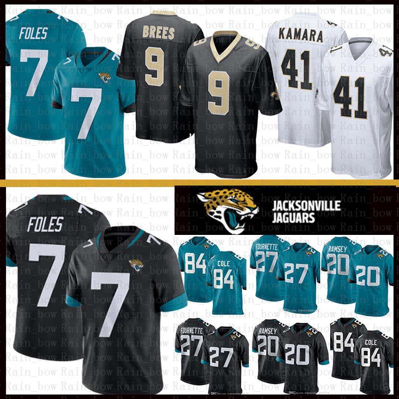 finest selection a3108 86133 Jacksonville 7 Nick Foles Jaguars Jersey New Orleans 9 Drew Brees 41 Alvin  Kamara Saints 20 Jalen Ramsey 27 Fournette Cole Lattimore Thomas