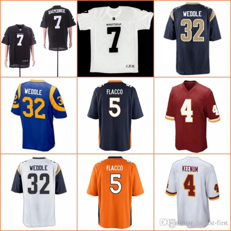 893d4468f 2019 2019 Washington 4 Case Keenum Redskins Jersey Los Angeles 32 Eric  Weddle Rams Cleveland 5 Joe Flacco Browns Denver 27 Kareem Hunt Broncos  From Honest ...