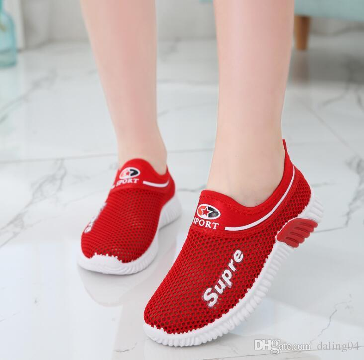 Childrens Sports Shoes, Babies, Boys and Girls New Fashion Leisure Shoes, Mesh Cloth Breathable Shoes 3colors size26-35 lw42508