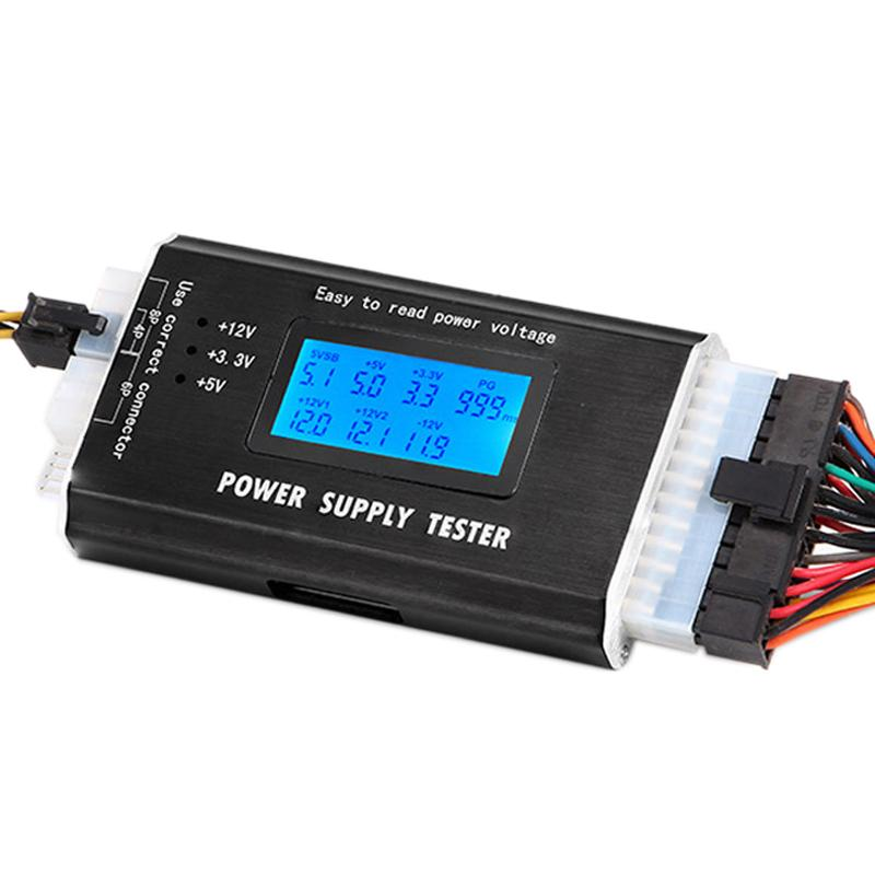 1 PCS 20/24 4/6/8 PIN 1 8 LCD Computer PC Power Supply Tester for  SATA,IDE,HDD,ATX,ITX,BYI Connectors