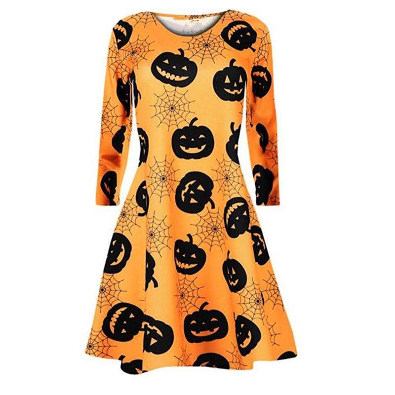 Women 2020 Dress Women Dresses Evening Party Clothes New Autumn Ladies Mini Dresses Women Printing Long Sleeve O Neck Dress