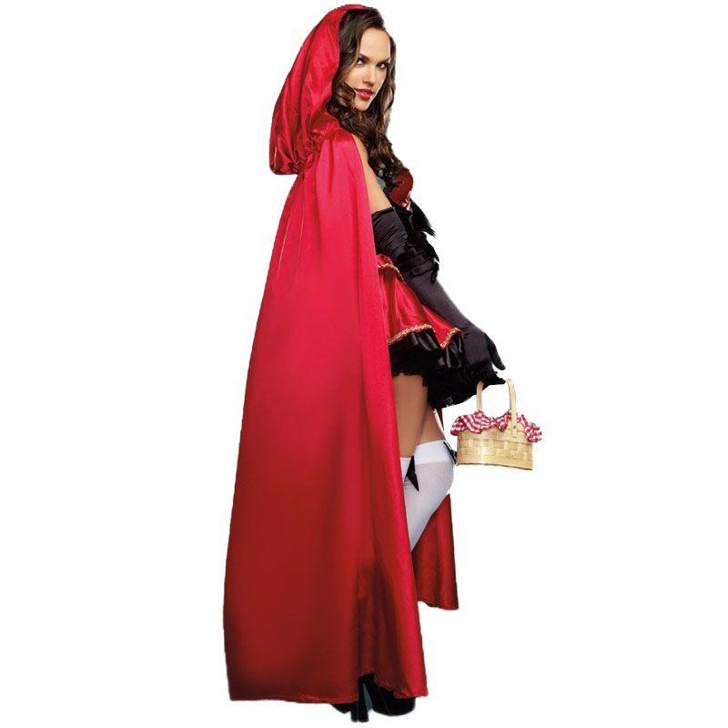 Acheter Ostumes Accessoires Costumes Cosplay Costume Petit Chaperon Rouge  Pour Femmes Fantaisie Adulte Halloween Cosplay Fantasia Carnaval Conte De  Fées . 876fb715032