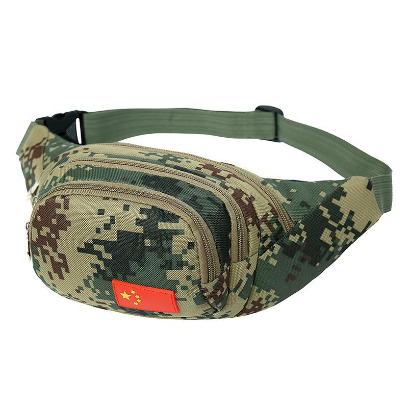 Men Women Riding Camouflage Sports Waist Bag Outdoor Travel Climbing Fishing Camping Oxford Cloth Waterproof Wearable Chest Bags