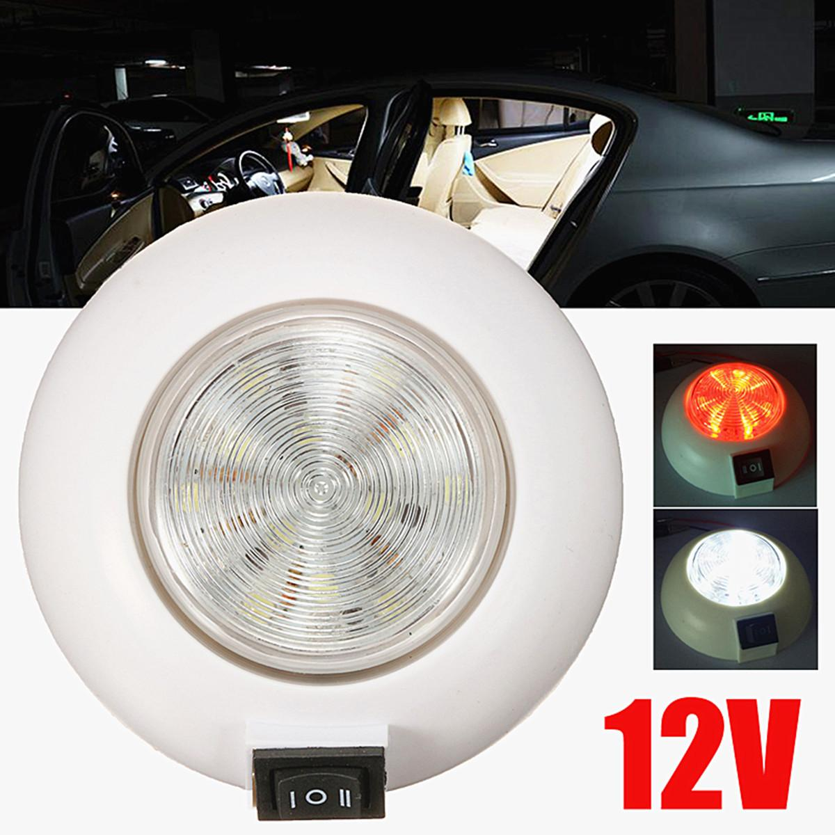 2019 12V Car LED Dome Light Dual Color Whiteu0026Amp;Red For RV Car Boat  Interior Lamp Dome Light Reading Light From Suozhi1991, $19.89 | DHgate.Com