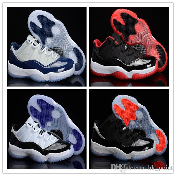 Real Concord 11s: 11s Low Georgetown Concord Infrared 23 Basketball Shoes
