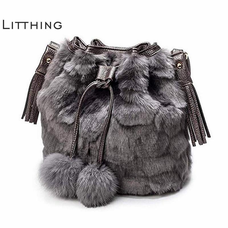e4eeb4316d Winter Fashion Women Shoulder Bag Black Ladies Crossbody Bag Leopard Plush  Print Faux Fur Hairy Female Tote Bags For Women 2018 D19011204 Overnight Bags  For ...